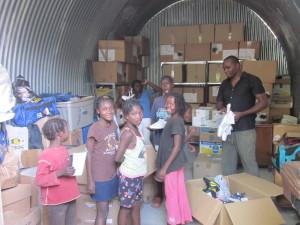 Die Hilfsgüter sind in Cap Haitien angekommen