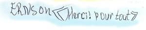 Ernson Unterschrift