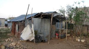 Hütte der gelähmten  Frau