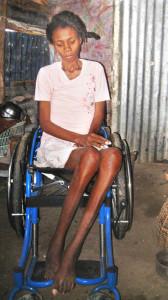 Im neuen Rollstuhl